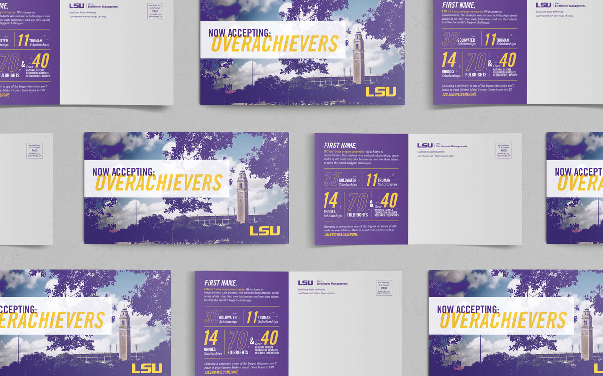 Lsu Recruitment Postcard