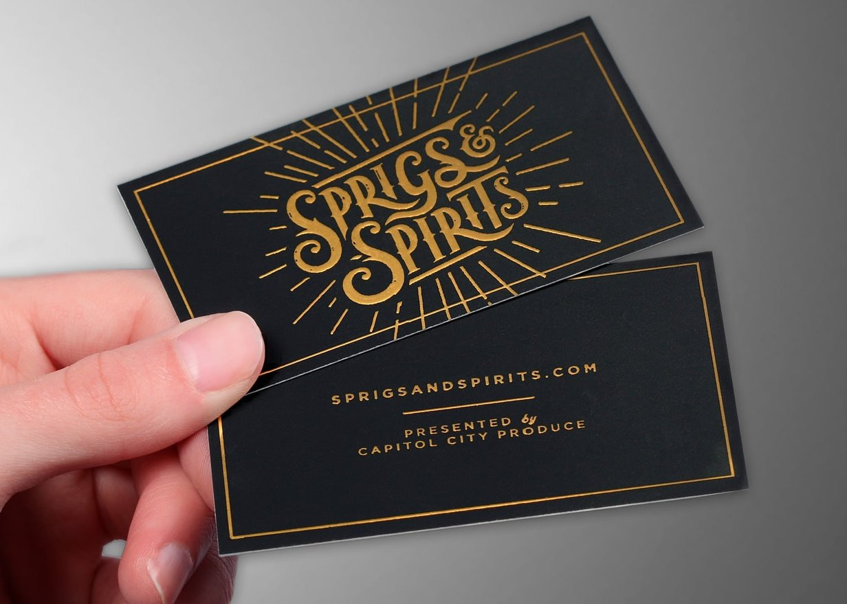 Sprigs And Spirits Business Card Min