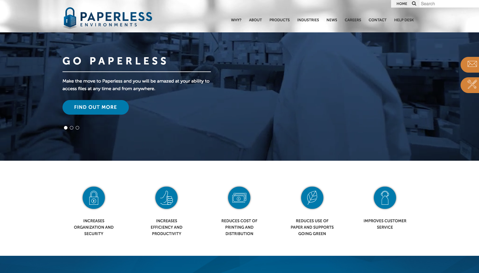 Paperless Environments Website Screenshot
