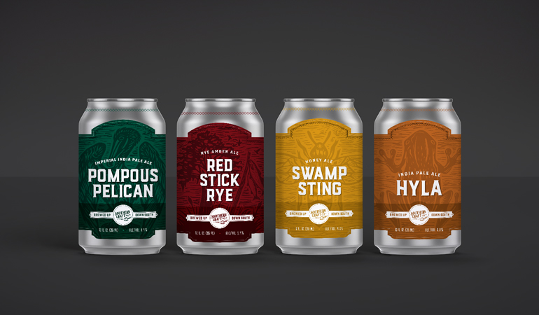 Southern Craft Brewing Co. Cans - Xdesign Baton Rouge