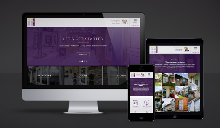 Relief Windows Website Design - Xdesign Baton Rouge