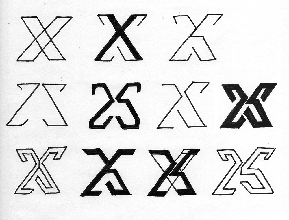 X Logo Sketches
