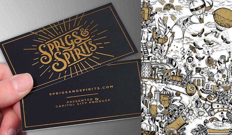 Sprigs & Spirits Business Cards